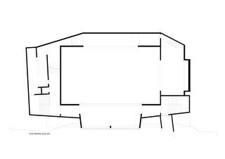 Plan niveau sous-sol 1 Salle de sport polyvalente Brillantmont International School von Frei Rezakhanlou SA architectes