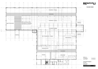 Grundriss, Nord-, Ost-, Süd- und Westfassade Renggli-Werk von Renggli AG