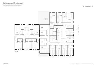 Grundriss 1. Obergeschoss Sanierung und Erweiterung Berggasthaus Bollenwees de RLC Architekten AG