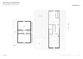 Grundriss Dachgeschoss Sanierung und Erweiterung Berggasthaus Bollenwees de RLC Architekten AG