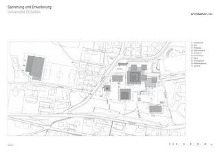 Situation Sanierung und Erweiterung Universität St. Gallen de RLC Architekten AG
