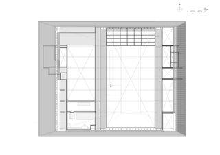 Grundriss Obergeschoss Neubau Stadthalle Laufenburg von Oliver Brandenberger Stephan Bührer Adrian Kloter Architekten
