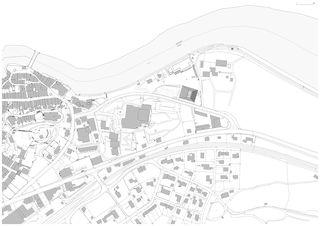 Übersichtsplan Neubau Stadthalle Laufenburg von Oliver Brandenberger Stephan Bührer Adrian Kloter Architekten