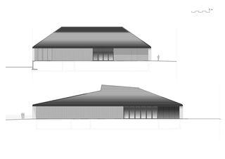 Ansichten Süd und West Neubau Stadthalle Laufenburg de Oliver Brandenberger Stephan Bührer Adrian Kloter Architekten