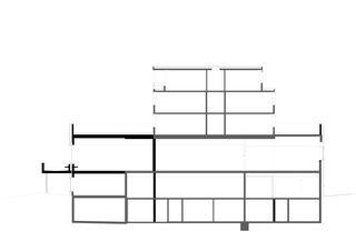 Schnitt A Kantonsschule Trogen Mensa- und Konviktgebäude von kimlim architekten eth sia