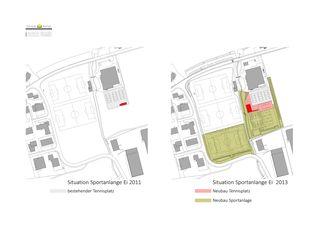 Situation Tennishaus mit Nebengebäude von Schaub Kempf GmbH Architekturbüro