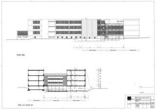 Ansich Nord und Süd Collège Jean-Jacques Rousseau, Fleurier/ commune de Val-de-Travers von Architecte HES dipl.<br/>