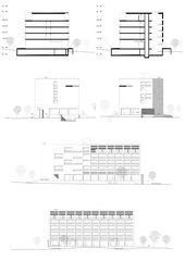 Fassaden / Schnitte Aparthotel Rotkreuz von MMJS Jauch-Stolz Architekten AG