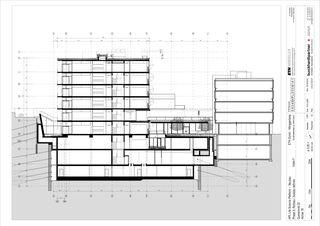 Querschnitt Molecular Health Science Platform ETH Zürich von Architekten Generalplaner<br/>