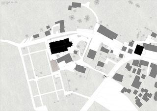 Situation Crypte _ le Châble _ Bagnes von hma Hugues Michaud Architecte