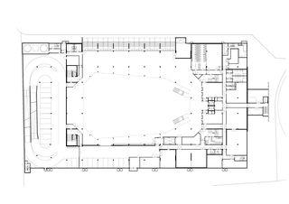1stes Untergeschoss | Arenageschoss Umwelt Arena von rené schmid architekten ag