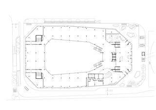 Erdgeschoss Umwelt Arena von rené schmid architekten ag