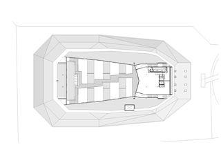 3tes Obergeschoss | Dach Umwelt Arena von rené schmid architekten ag