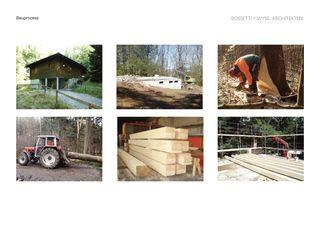 Bauablauf, vom Baum zur Hütte Trublerhütte, Schlieren von Rossetti+Wyss Architekten AG
