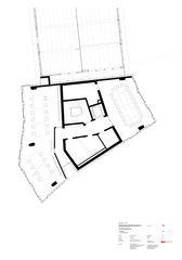 Grundriss 1. OG Baudienstzentrum Kohlendreieck Zürich von von Ballmoos Partner Architekten AG