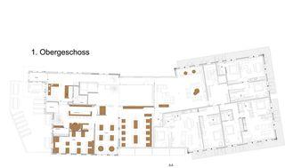 1. Obergeschoss ASPEN alpin lifestyle hotel Grindelwald von GriwaPlan AG