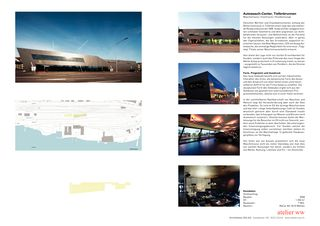 Projektblatt Autowasch-Center, Tiefenbrunnen von atelier ww Architekten SIA AG