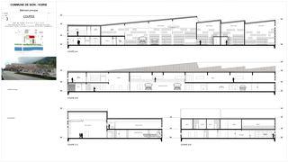 Coupes Nouvelle Voirie de Sion von Atelier d'architecture Pascal Varone