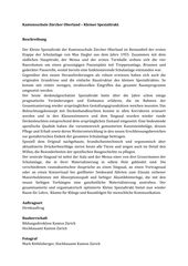 Beschreibung Kantonsschule Zürcher Oberland - Kleiner Spezialtrakt - Wetzikon von Leuppi & Schafroth Architekten AG
