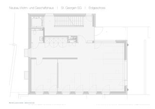 St. Georgen SG Erdgeschoss Wohn- und Geschäftshaus de Dipl. Architekt SWB/SIA<br/>