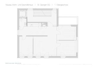 St. Georgen SG 1. Obergeschoss Wohn- und Geschäftshaus von Dipl. Architekt SWB/SIA<br/>