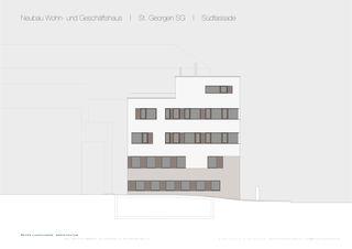 St. Georgen SG Ansicht Süd Wohn- und Geschäftshaus von Dipl. Architekt SWB/SIA<br/>