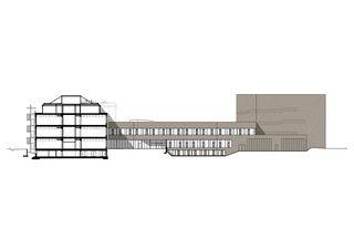 coupe 1 Rechenzentrum OIZ Albis de von Ballmoos Partner Architekten AG