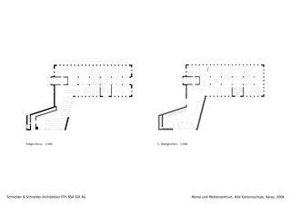 plans Mensa und Medienzentrum, Alte Kantonsschule, Aarau de Schneider & Schneider Architekten ETH BSA SIA AG