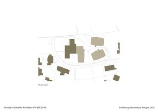 Situationsplan Erweiterung Alterssiedlung Küttigen von Schneider & Schneider Architekten ETH BSA SIA AG