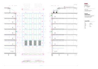 plan, coupe, élévation module préfabriqué en béton BONGENIE von Marco PISTARA & Michel STRAZZA, architectes ETS-HES-EPFL