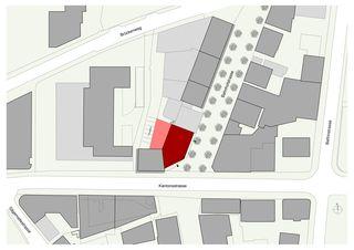 Situation Geschäftshaus Raiffeisenbank Region Visp von VOMSATTEL WAGNER ARCHITEKTEN ETH BSA SIA