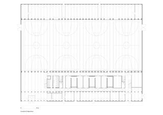 Grundriss Erdgeschoss Sportzentrum von HILDEBRAND Studios AG