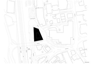 Situationsplan Geschäftshaus am Bahnhofplatz de Christ & Gantenbein AG