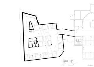 Grundriss 3. Untergeschoss Geschäftshaus am Bahnhofplatz de Christ & Gantenbein AG