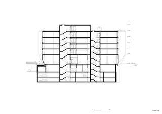 Schnitt B-B Geschäftshaus am Bahnhofplatz de Christ & Gantenbein AG