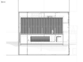 Elévation Ouest DTN von Guenin atelier d'architectures