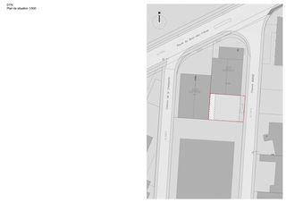 Plan de situation DTN von Guenin atelier d'architectures