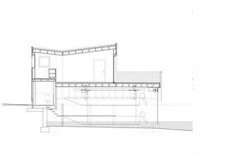 Längsschnitt Bootshaus Oberrieden von gimmivogt architekten eth sia gmbh