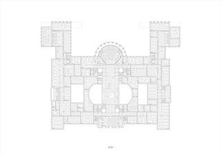 Grundriss, 2OG, 1:200, A0 Neues D-ARCH im ETH Hauptgebäude von
