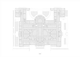 Grundriss, EG, 1:200, A0 Neues D-ARCH im ETH Hauptgebäude von